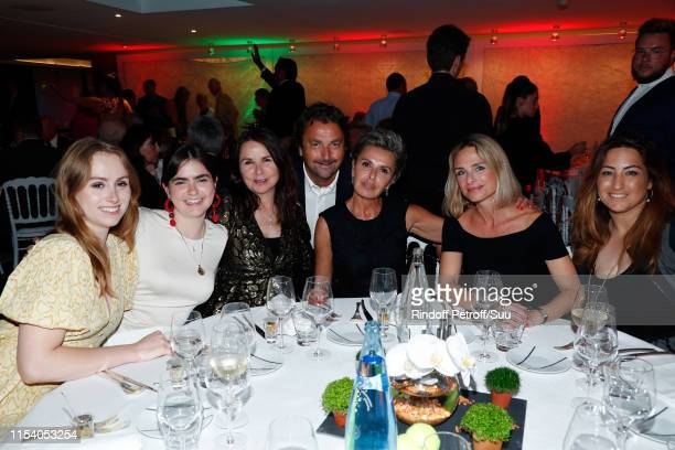Anna McEnroe Ava McEnroe Patty Smith Henri Leconte Maria Dowlatshahi Isabel Mendez and Aravanne Rezaï attend the Legends Of Tennis Dinner as part of...