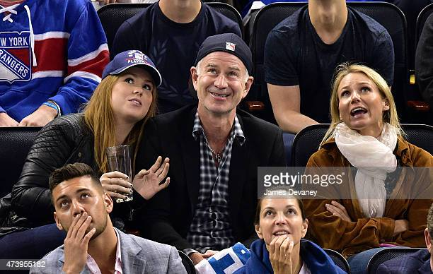 Anna McEnroe John McEnroe and Jewel attend the Tampa Bay Lightning vs New York Rangers playoff game at Madison Square Garden on May 18 2015 in New...