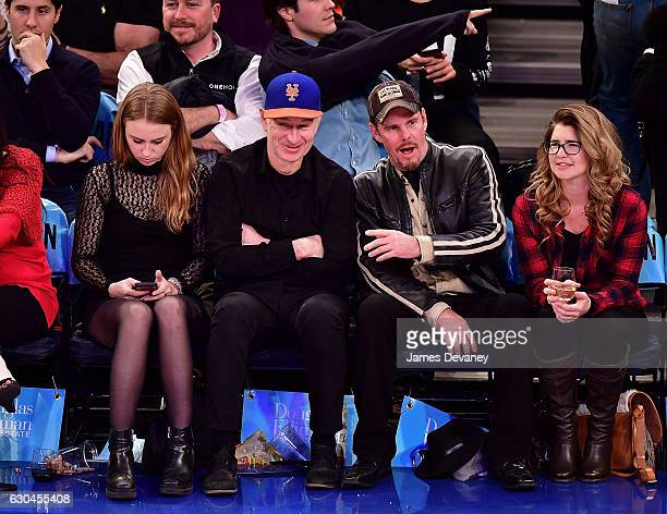 Anna McEnroe John McEnroe Kevin Dillon and guest attend Orlando Magic Vs New York Knicks game at Madison Square Garden on December 22 2016 in New...