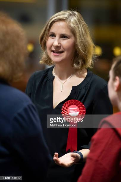 Anna McMorrin Labour Party candidate for Cardiff North arrives at the Cardiff City stadium on December 13 2019 in Cardiff Wales The current...