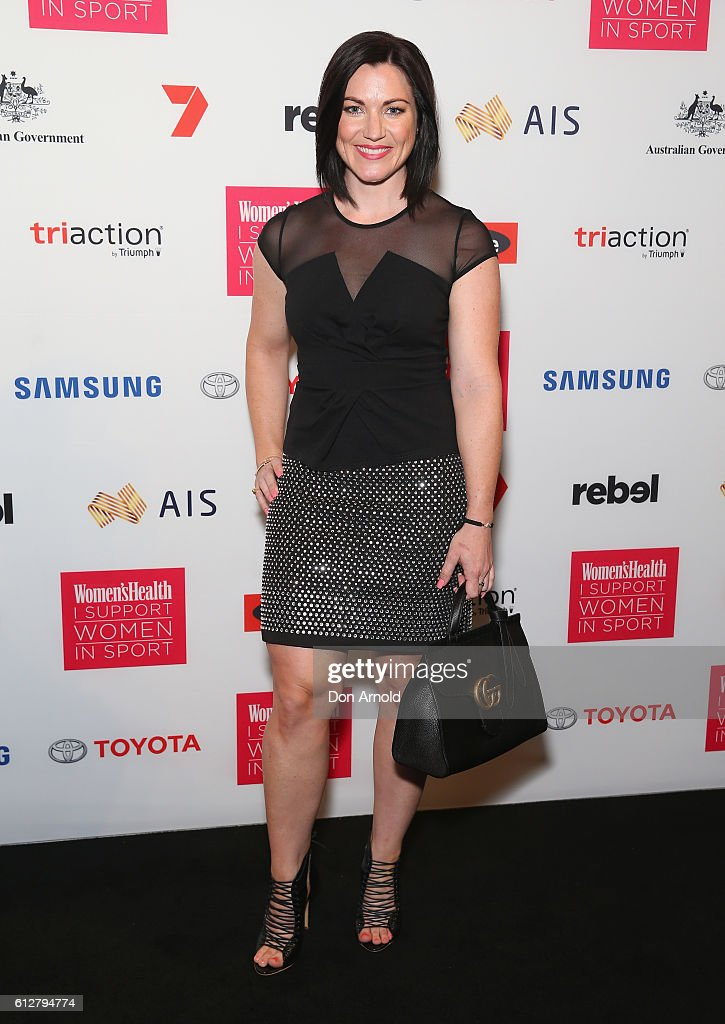 Anna Meares arrives ahead of the Women's Health I Support Women In Sport Awards at Carriageworks on October 5, 2016 in Sydney, Australia.