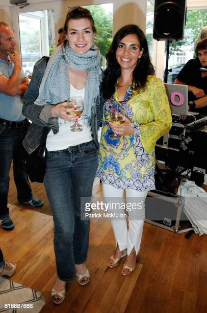 Anna Meisel and Jessica Guadagno attend What2WearWherecom Plus Calypso ST Barth Summer shopping soiree at Calypso St Barth on June 12 2010 in East...