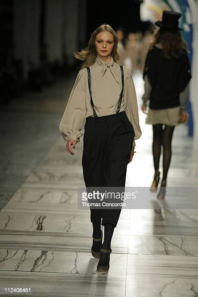 Anna Mikhaylik wearing 3.1 Phillip Lim Fall 2007 during Mercedes-Benz Fashion Week Fall 2007 - 3.1 Phillip Lim - Runway at Waterfront Building in New...