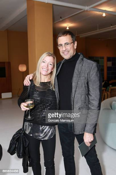 Anna Minh and James Mansour during the Ralph Pucci 2nd Annual Jazz Set on December 4 2017 in New York New York