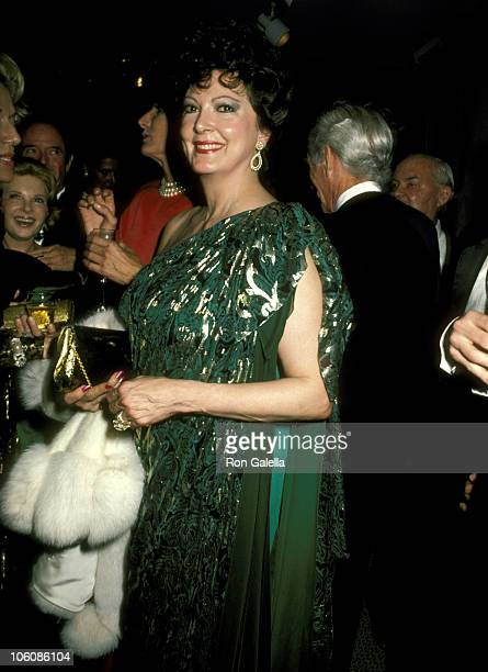 Anna Moffo during Palm Beach Ball Benefit October 14 1986 at Sotheby's in New York City New York United States