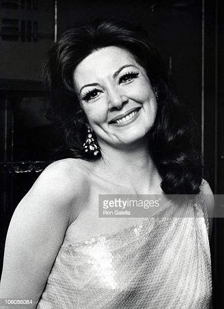 Anna Moffo during USO Tribute Dinner to RCA's Robert Sarnoff - October 17, 1973 at Waldorf-Astoria Hotel in New York City, New York, United States.