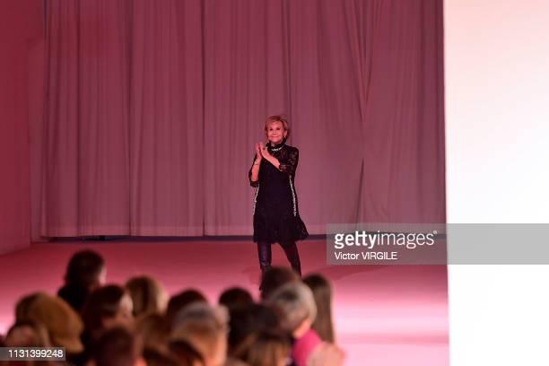 Anna Molinari walks the runway at the Blumarine Ready to Wear Fall/Winter 20192020 fashion show at Milan Fashion Week Autumn/Winter 2019/20 on...