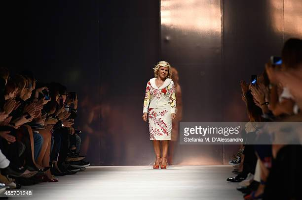 Anna Molinari walks the runway during the Blumarine show as a part of Milan Fashion Week Womenswear Spring/Summer 2015 on September 19 2014 in Milan...