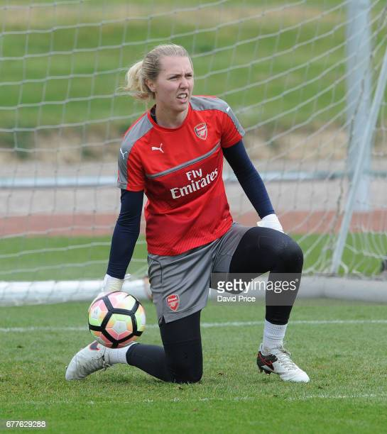 Anna Moorhouse of Arsenal Ladies during an Arsenal Ladies Training Session at London Colney on May 3 2017 in St Albans England