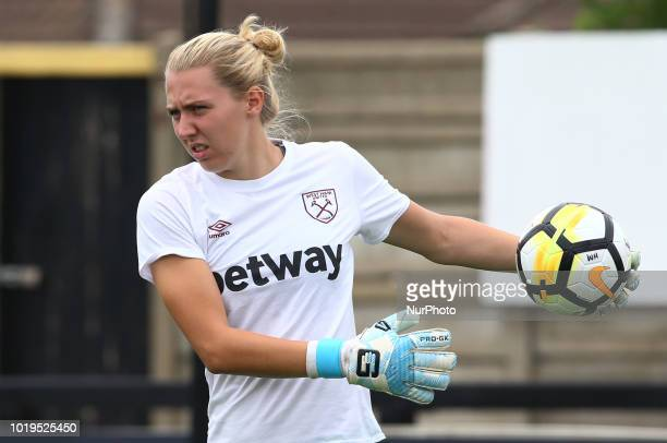 Anna Moorhouse of West Ham United WFC during FA Continental Tyres Cup match between Arsenal and West Ham United WFC at Boredom Wood Boredom Wood...
