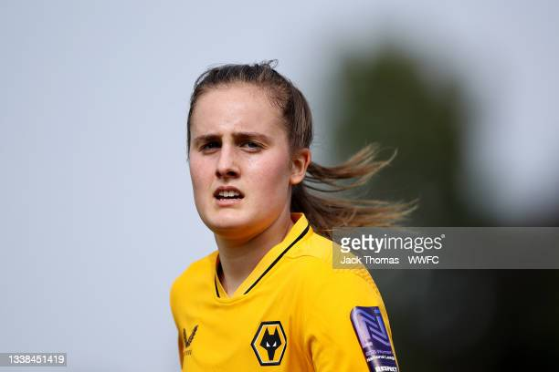 Anna Morphet of Wolverhampton Wanderers looks on during the FAWNL Northern Premier Division match between Wolverhampton Wanderers Women and...