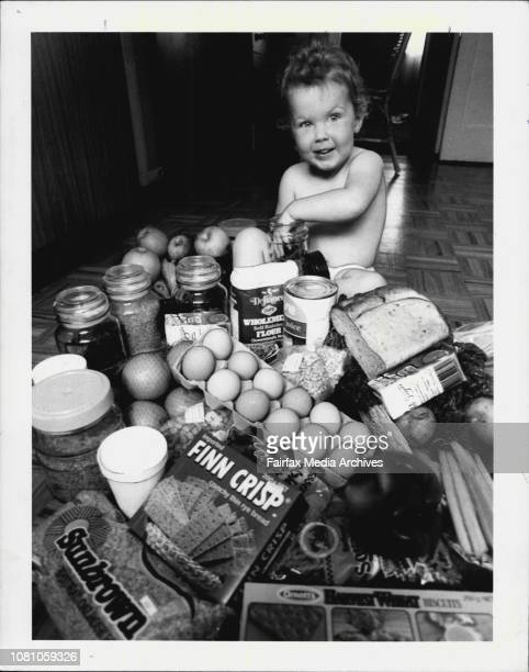 Anna Morris of Manly vale with some healthy foods October 14 1983