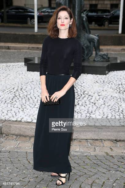Anna Mouglalis arrives at the Miu Miu Show for the Paris Fashion Week Haute Couture F/W 20142015 on July 5 2014 in Paris France
