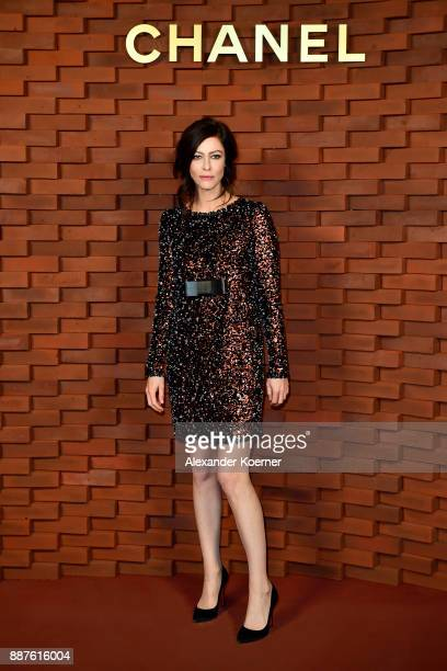 Anna Mouglalis arrives for the Chanel Collection Metiers d'Art Paris Hamburg 2017/18 at The Elbphilharmonie on December 6 2017 in Hamburg Germany