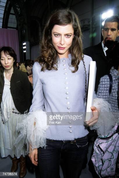Anna Mouglalis at the Front Row Grand Palais in Paris France