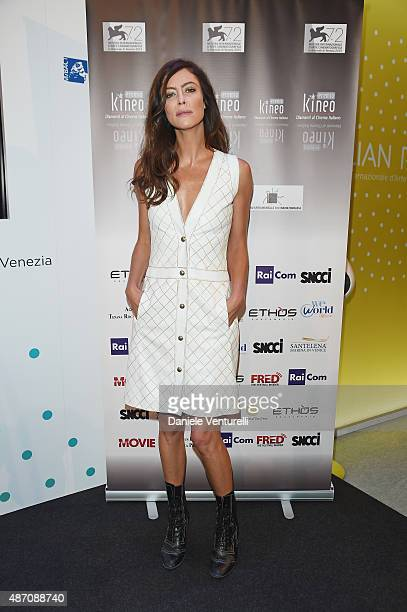Anna Mouglalis attends a photocall for Kineo Award during the 72nd Venice Film Festival at Palazzo del Casino on September 6 2015 in Venice Italy