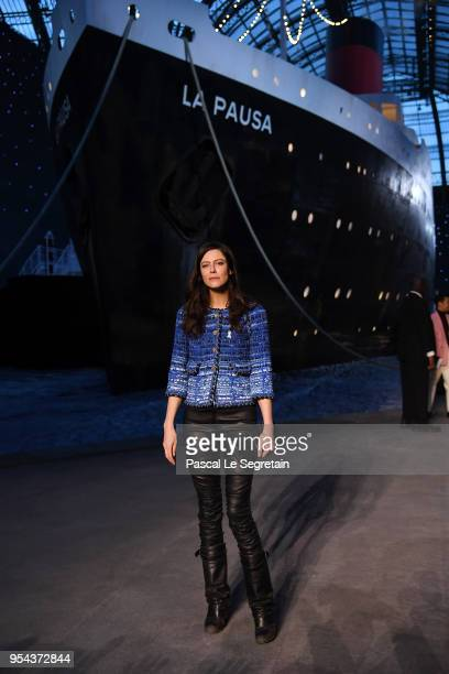 Anna Mouglalis attends the Chanel Cruise 2018/2019 Collection at Le Grand Palais on May 3 2018 in Paris France