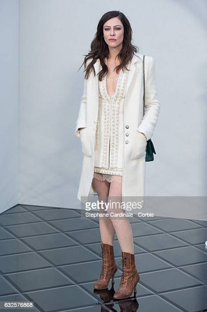 Anna Mouglalis attends the Chanel Haute Couture Spring Summer 2017 show as part of Paris Fashion Week on January 24, 2017 in Paris, France.