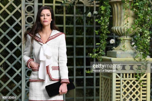 Anna Mouglalis attends the Chanel Haute Couture Spring Summer 2018 show as part of Paris Fashion Week on January 23 2018 in Paris France
