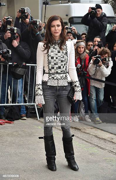 Anna Mouglalis attends the Chanel show as part of Paris Fashion Week Haute Couture Spring/Summer 2015 on January 27 2015 in Paris France