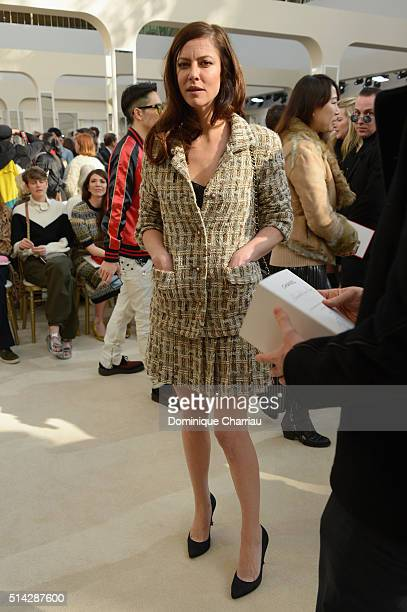 Anna Mouglalis attends the Chanel show as part of the Paris Fashion Week Womenswear Fall/Winter 2016/2017 on March 8 2016 in Paris France
