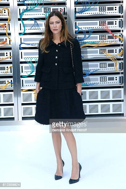 Anna Mouglalis attends the Chanel show as part of the Paris Fashion Week Womenswear Spring/Summer 2017 on October 4 2016 in Paris France