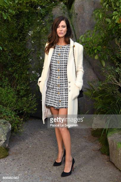 Anna Mouglalis attends the Chanel show as part of the Paris Fashion Week Womenswear Spring/Summer 2018 on October 3 2017 in Paris France