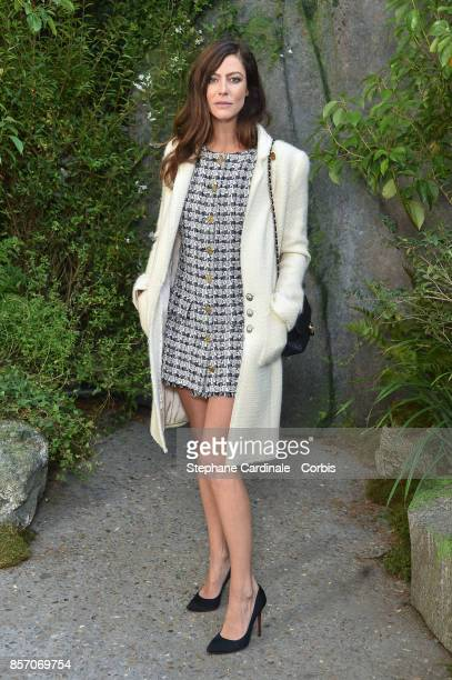 Anna Mouglalis attends the Chanel show as part of the Paris Fashion Week Womenswear Spring/Summer 2018 at on October 3 2017 in Paris France