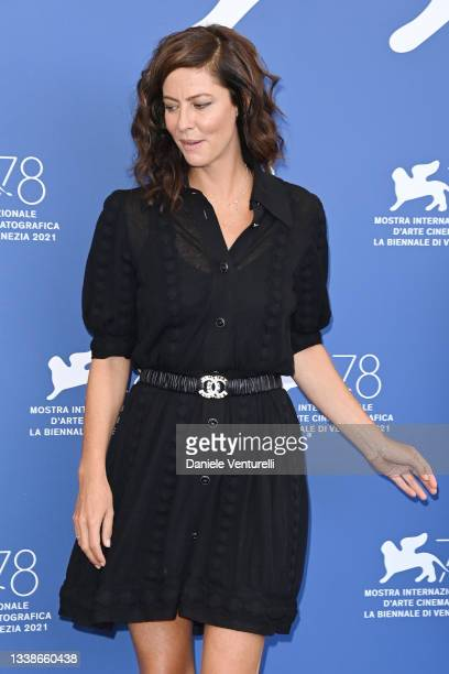 """Anna Mouglalis attends the photocall of """"L'Evenement"""" during the 78th Venice International Film Festival on September 06, 2021 in Venice, Italy."""