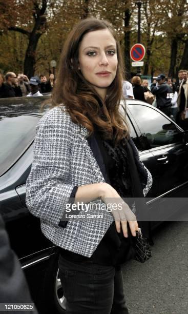 Anna Mouglalis during Paris Fashion Week Spring/Summer 2007 Chanel Arrivals at Grand Palais in Paris France