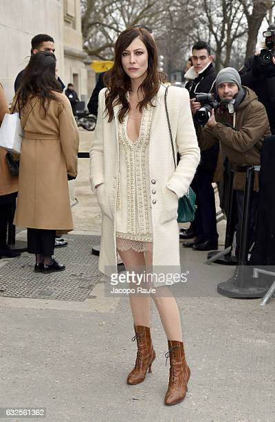 Anna Mouglalis is seen arriving at the Chanel Fashion Show during Paris Fashion Week Haute Couture F/W 20172018 on January 24 2017 in Paris France