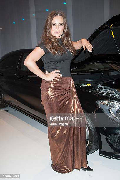 Anna Mucha attends MercedesBenz Fashion Week on May 16 2015 at Soho Factory in Warsaw Poland