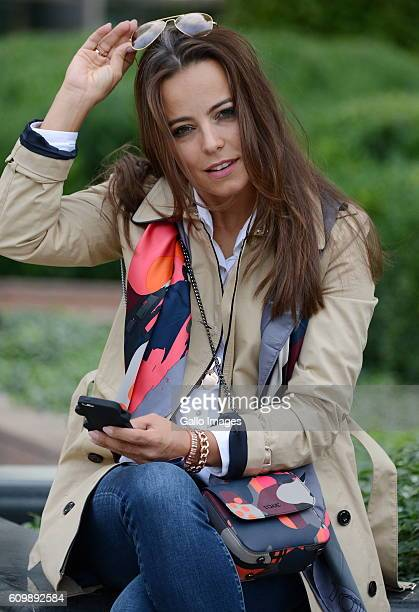 Anna Mucha during a photo shoot on September 19 2016 in Warsaw Poland Mucha is a Polish film and television actress known to Western world audiences...