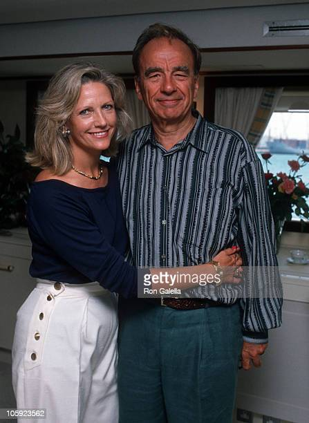 Anna Murdoch and Rupert Murdoch during Malcolm Forbes' 70th Birthday Party 1989 at Tangier Country Club in Tangier Morocco Morocco