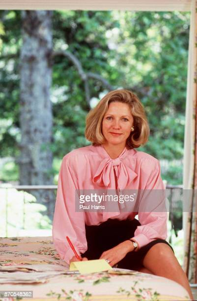 Anna Murdoch wife of 32 years of Rupert Murdoch they announced their separation April 1998 photographed April 21 1988 Bel Air California