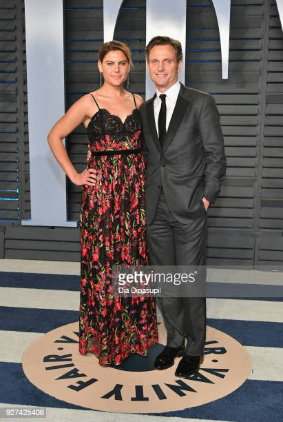 Anna MuskyGoldwyn and Tony Goldwyn attend the 2018 Vanity Fair Oscar Party hosted by Radhika Jones at Wallis Annenberg Center for the Performing Arts...
