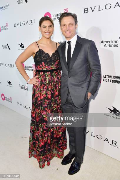 Anna MuskyGoldwyn and Tony Goldwyn attends the 26th annual Elton John AIDS Foundation Academy Awards Viewing Party sponsored by Bulgari celebrating...