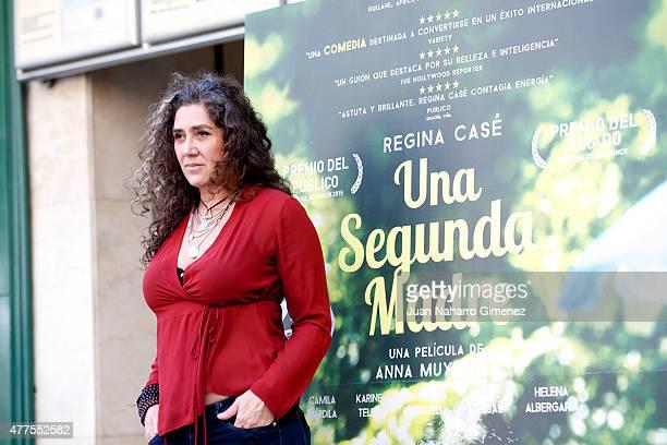 Anna Muylaert attends 'Una Segunda Madre' photocall at Princesa Cinema on June 18 2015 in Madrid Spain