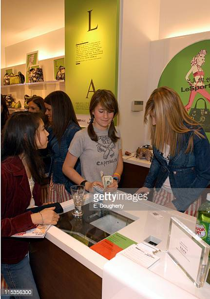 Anna Nadin shopper during Teen Vogue and LeSportsac Celebrate LAMB Collection at LeSportsac Store Madison Avenue in New York City New York United...