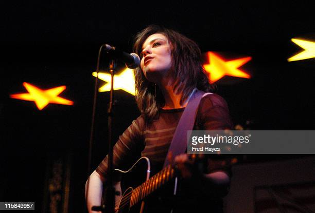 Anna Nalick during 2005 Sundance Film Festival ASCAP Music Cafe with Anna Nalick Lori McKenna Los Pinguos Suzanne Vega and Ricki Lee Jones at Plan B...