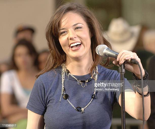 Anna Nalick during Anna Nalick Performs on the 2005 'Today' Show Summer Concert Series at Rockefeller Plaza in New York City New York United States