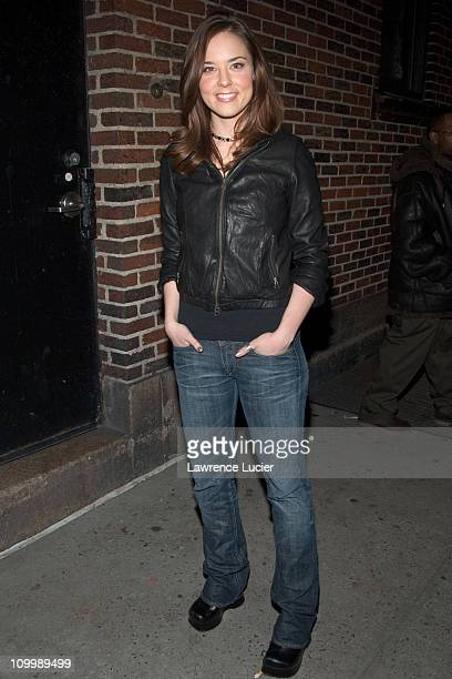 Anna Nalick during Cheryl Hines and Anna Nalick Appear Outside The Late Show with David Letterman January 19 2006 at Ed Sullivan Theater in New York...