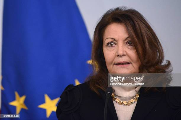 Anna Nardini Councillor of the Government during the press conference at Palazzo Chigi for the presentation of the events planned for the 'Day...