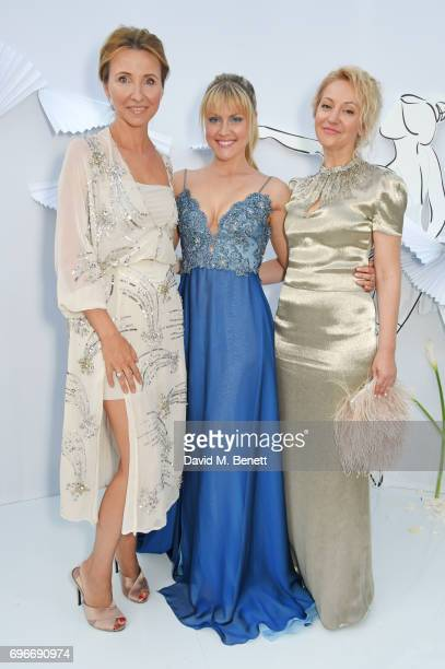 Anna Nasobina Camilla Kerslake and Yulia Polyvoda attend a charity gala evening and performance of the play 'A LifeLong Pas' in honour of Rudolf...