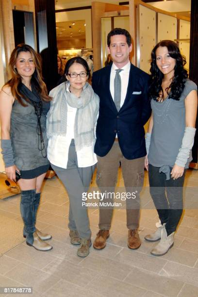 Anna Natalucci Erika Vargas Eric Echelmeyer and Jessica Debreceni attend Brunello Cucinelli Runway Show at Neiman Marcus Beverly Hills at Neiman...