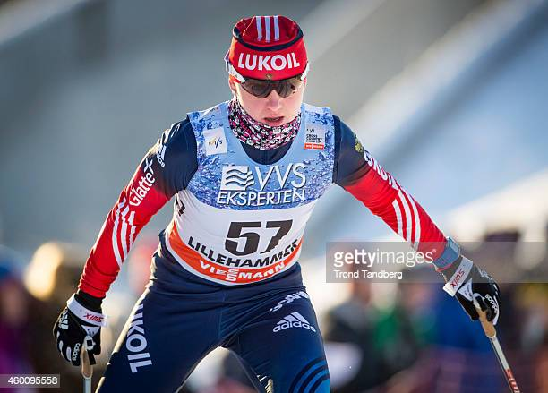 Anna Nechaevskaya of Russia during the Ladies 5 km Free Individual start Cross Country at Birkebeineren Stadion on December 06 2014 in Lillehammer...