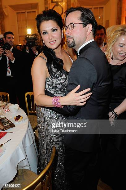Anna Netrebko and Jan Josef Liefers attend the 'Romy Award 2013 Afterparty' at Hofburg Vienna on April 20 2013 in Vienna Austria