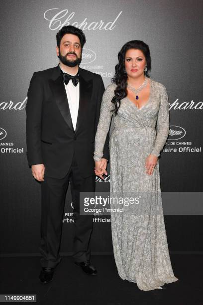 Anna Netrebko and Yusif Eyvazov attends the Chopard Party during the 72nd annual Cannes Film Festival on May 17 2019 in Cannes France
