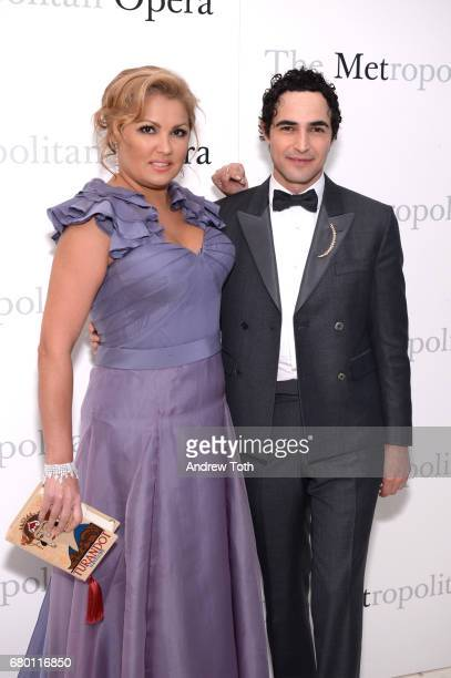 Anna Netrebko and Zac Posen attend The Metropolitan Opera 50th Anniversary Gala at The Metropolitan Opera House on May 7 2017 in New York City