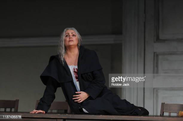 Anna Netrebko as Donna Leonora in The Royal Opera's production of Giuseppe Verdi's La forza del destino directed by Christof Loy and conducted by...